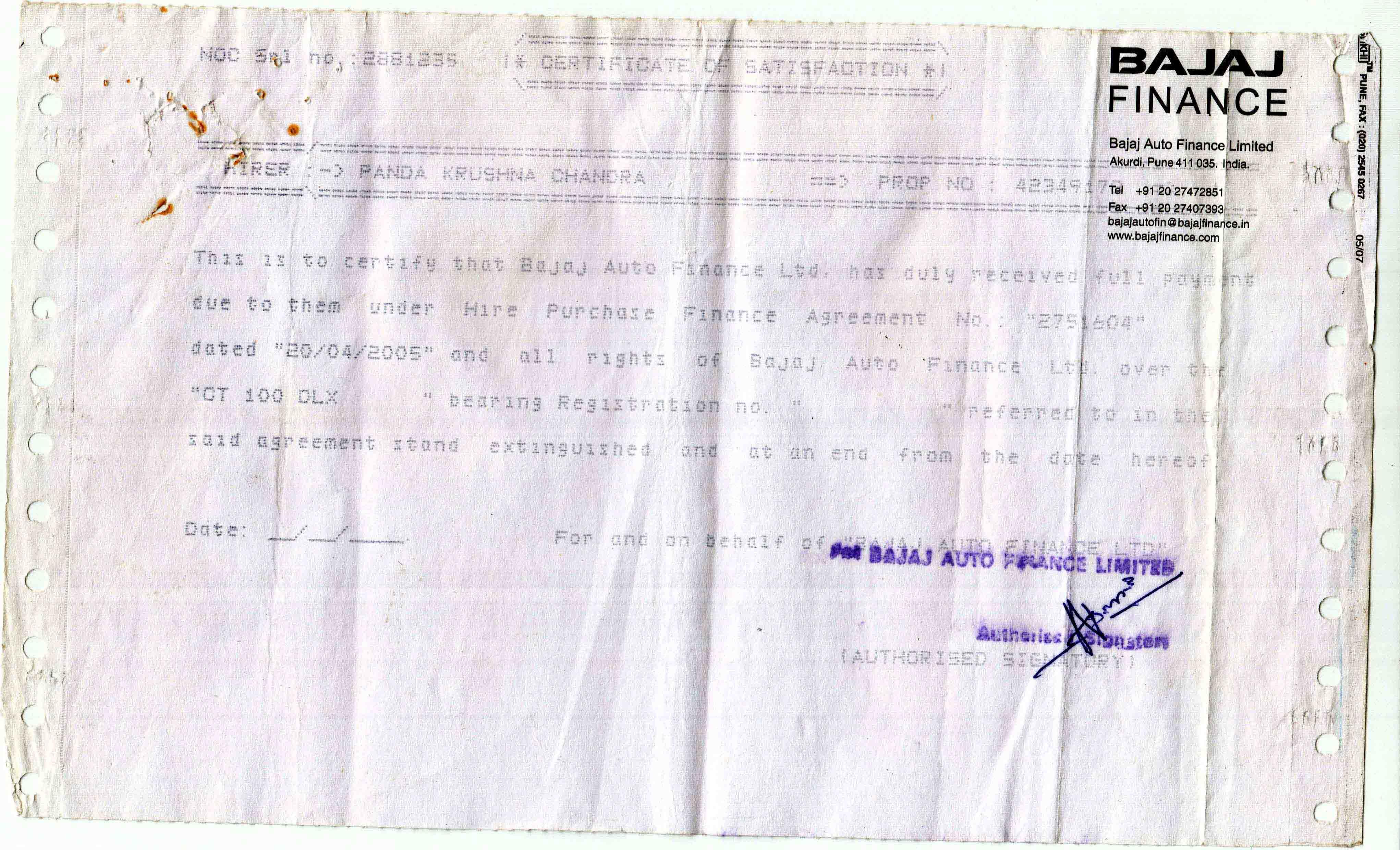 Bajaj auto finance is very dangerous bajaj auto finance limited ive attached my all clearance certificates indias biggest auto finance is bajaj finance yadclub Choice Image