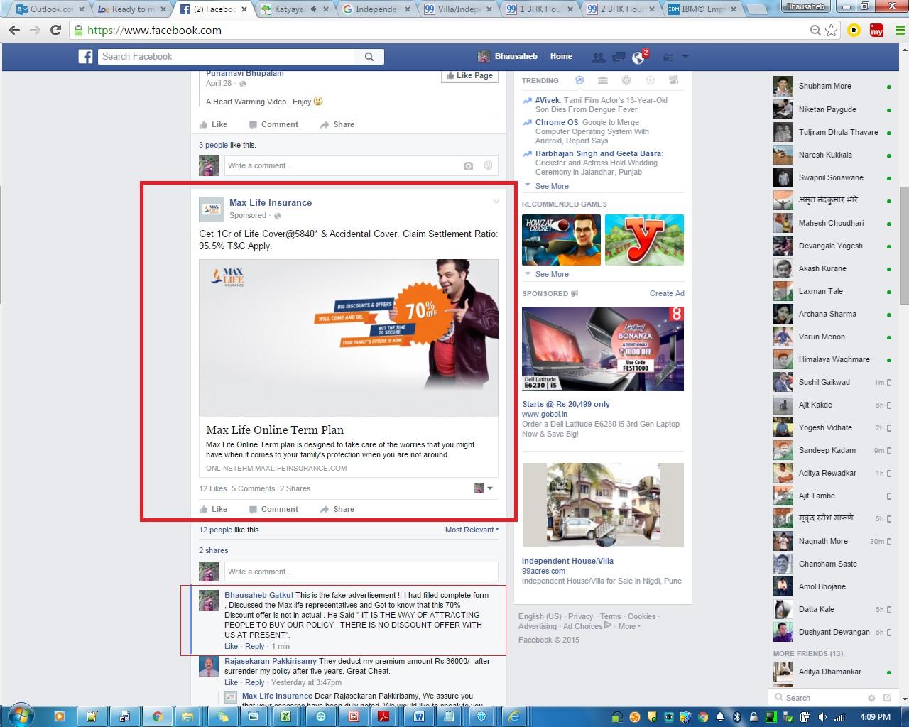 Making Fake advertisement on facebook !! - MAX LIFE ...