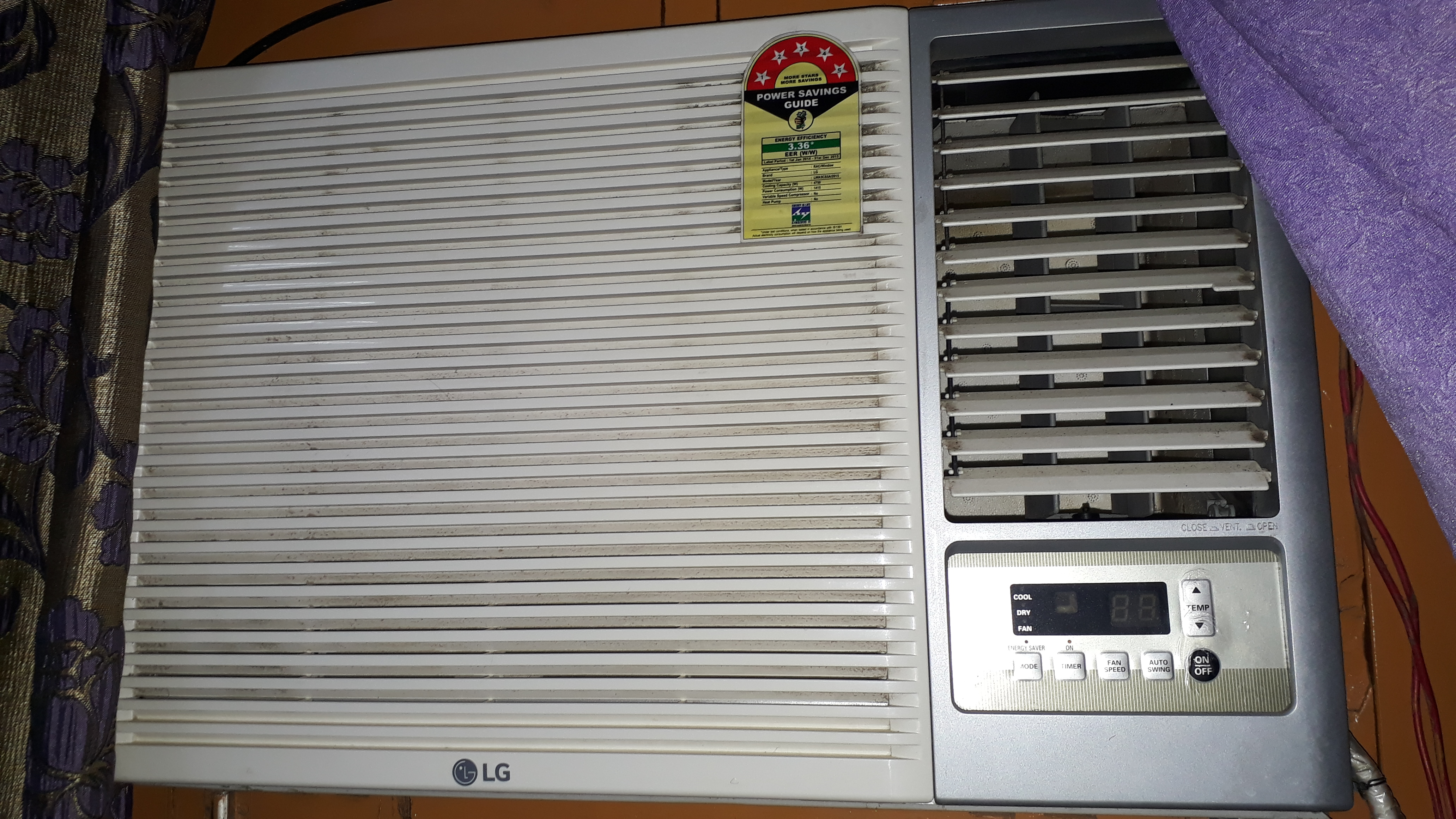 Best ac used from lg lg lwa18prdfh1 1 5 ton 5 star for 1 5 ton window ac size