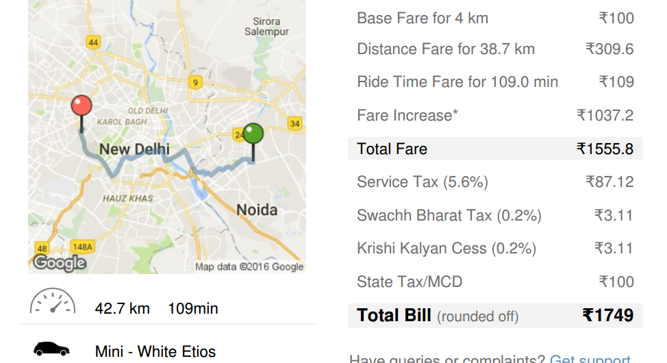 When Does Uber Pay >> Beware ola will loot you - OLA CABS Consumer Review - MouthShut.com
