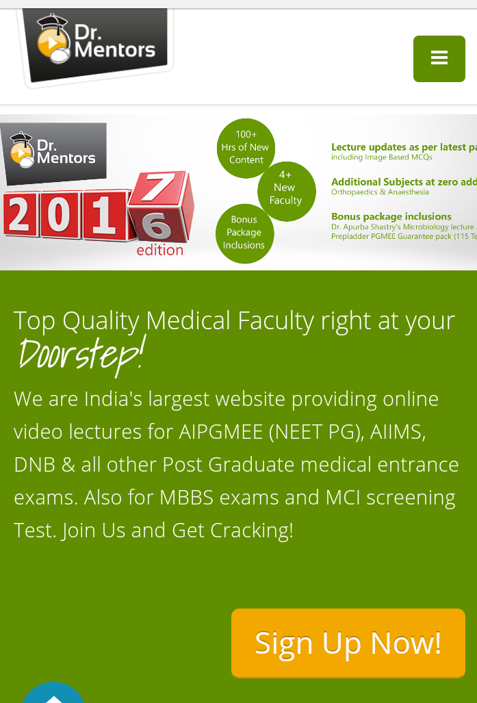 Best for PG medical courses - DRMENTORS COM Consumer Review