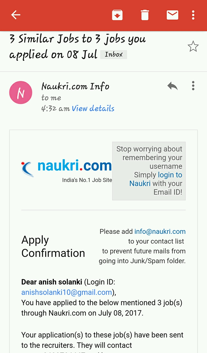 naukri official find the best faster 100