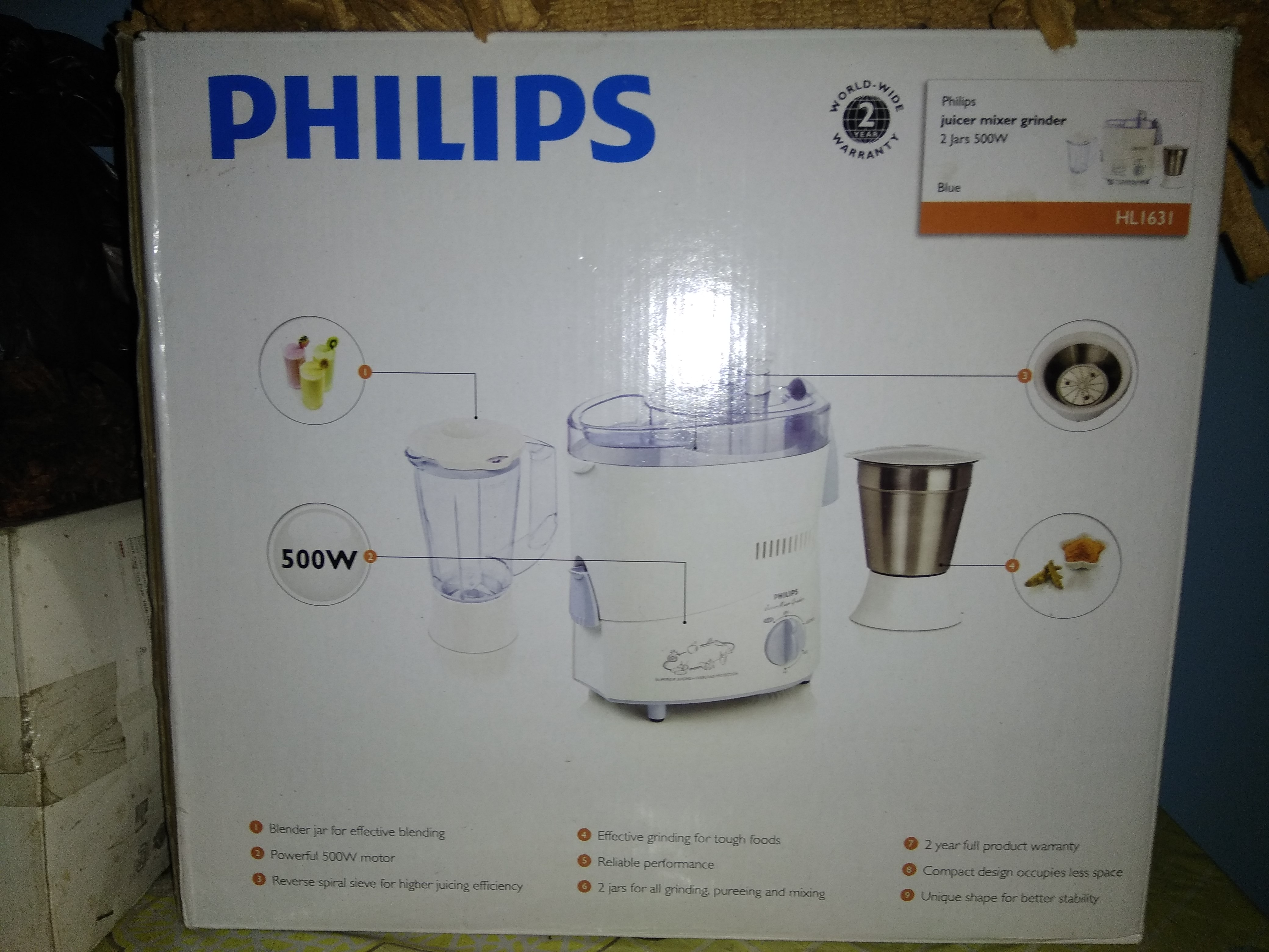 A average product from Philips     - PHILIPS HL1631 500 W