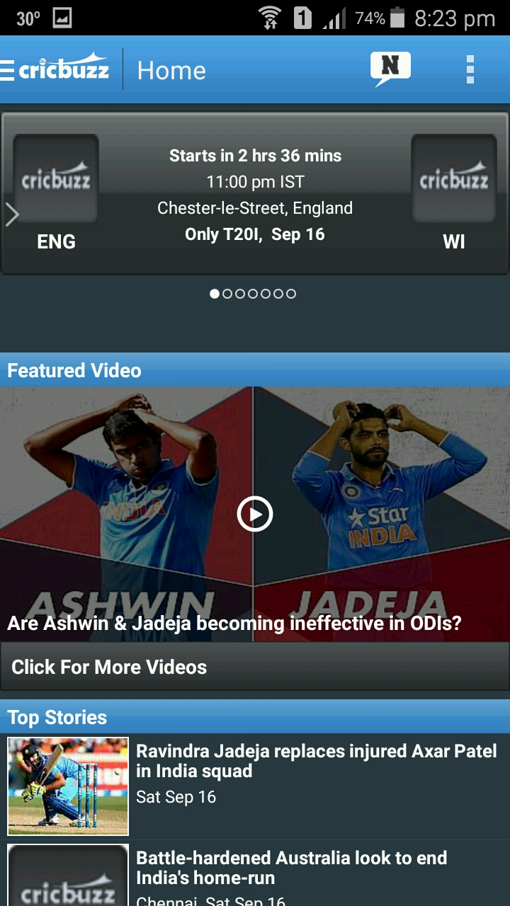 CRICBUZZ CRICKET SCORES & NEWS Review, CRICBUZZ CRICKET SCORES