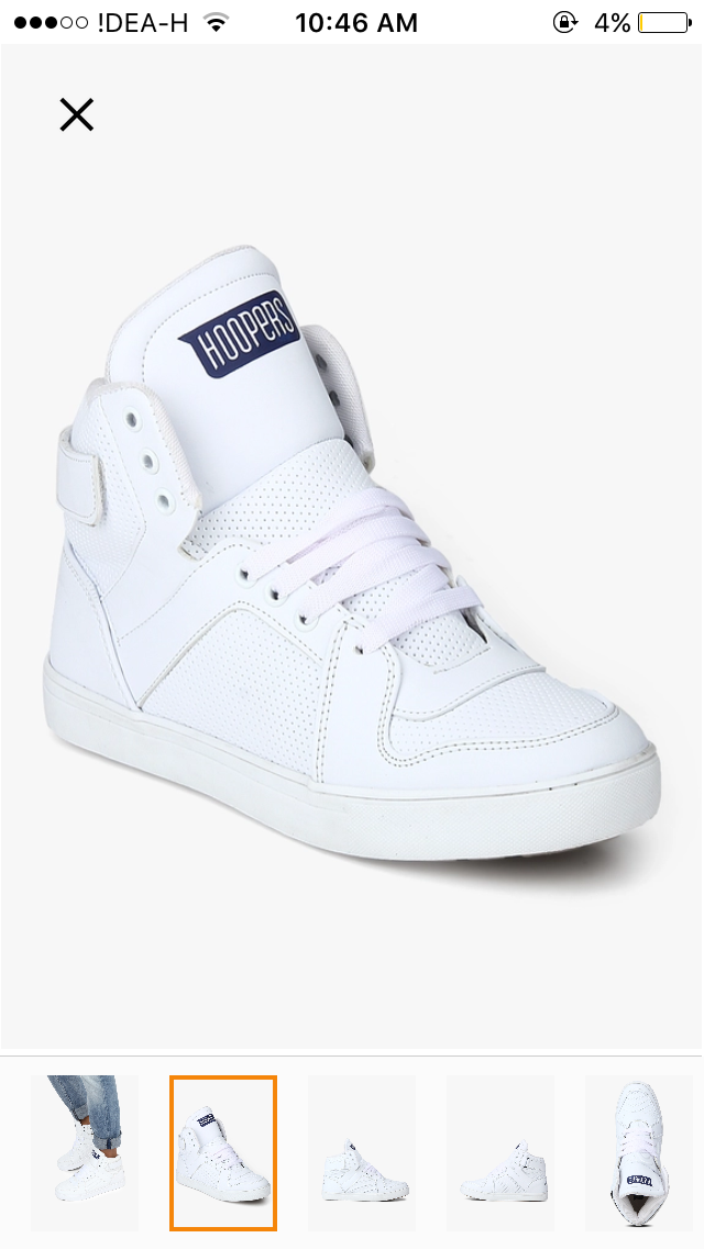 ... top shoes with this shoes then its rating was on top so, I purchased  this shoes and I think its best high top white sneaker in 1100 rs budget.  so, ...