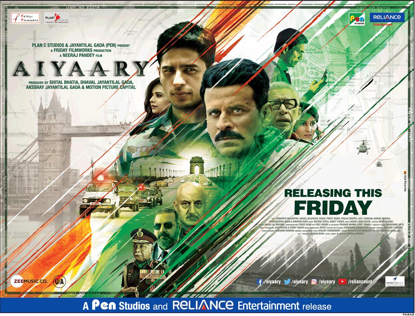 Neeraj Pandey S Weakest Film Aiyaary Audience Review Mouthshut Com
