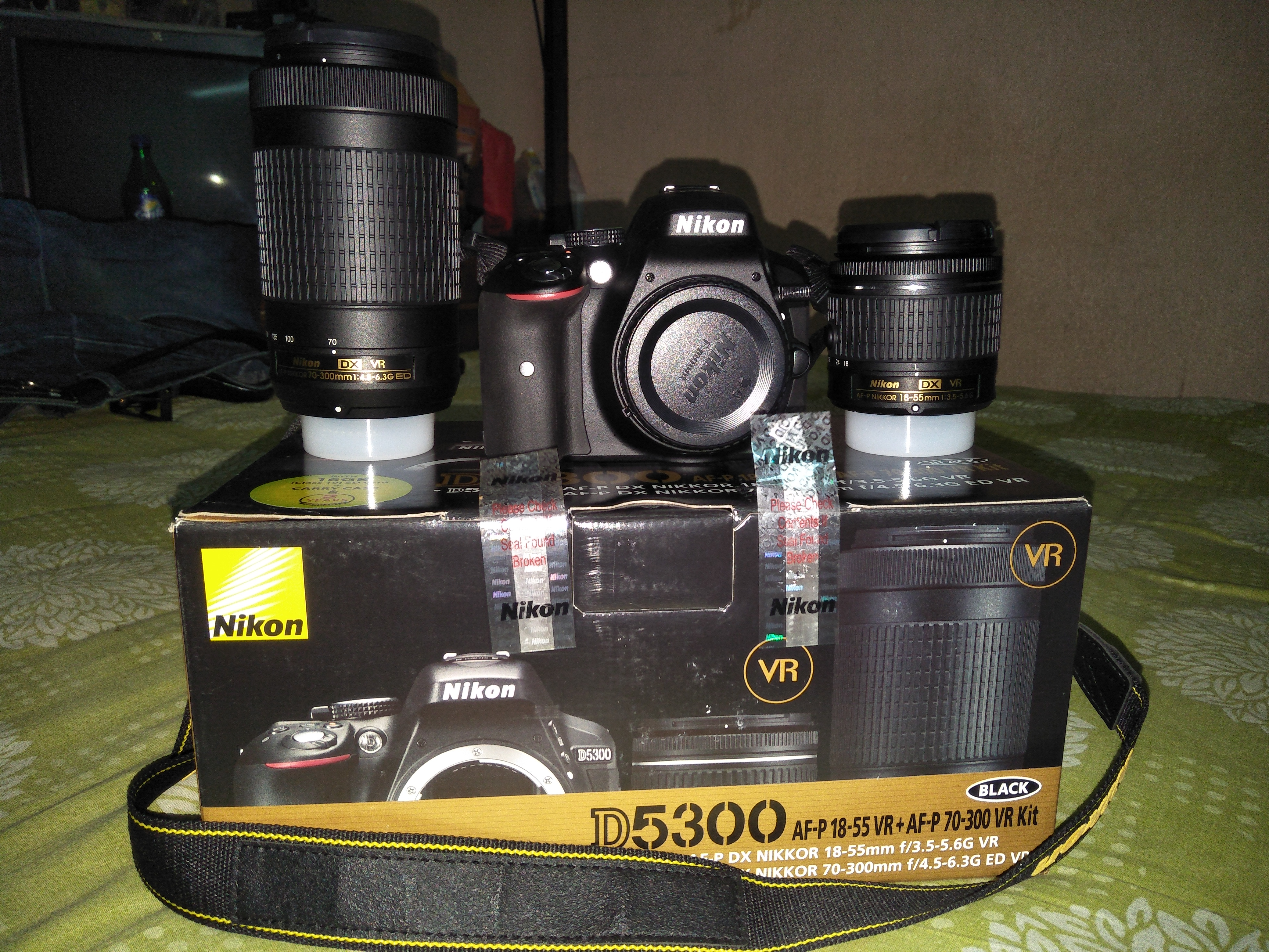 Nikon D5300dual Af P Lens Must Buy D5300 Dslr Camera Kit 18 55mm Vr 55 70 300 Dual It Is A Great Value Of Money For Beginnersit Have Different Types Shutterseed 1 60 4000