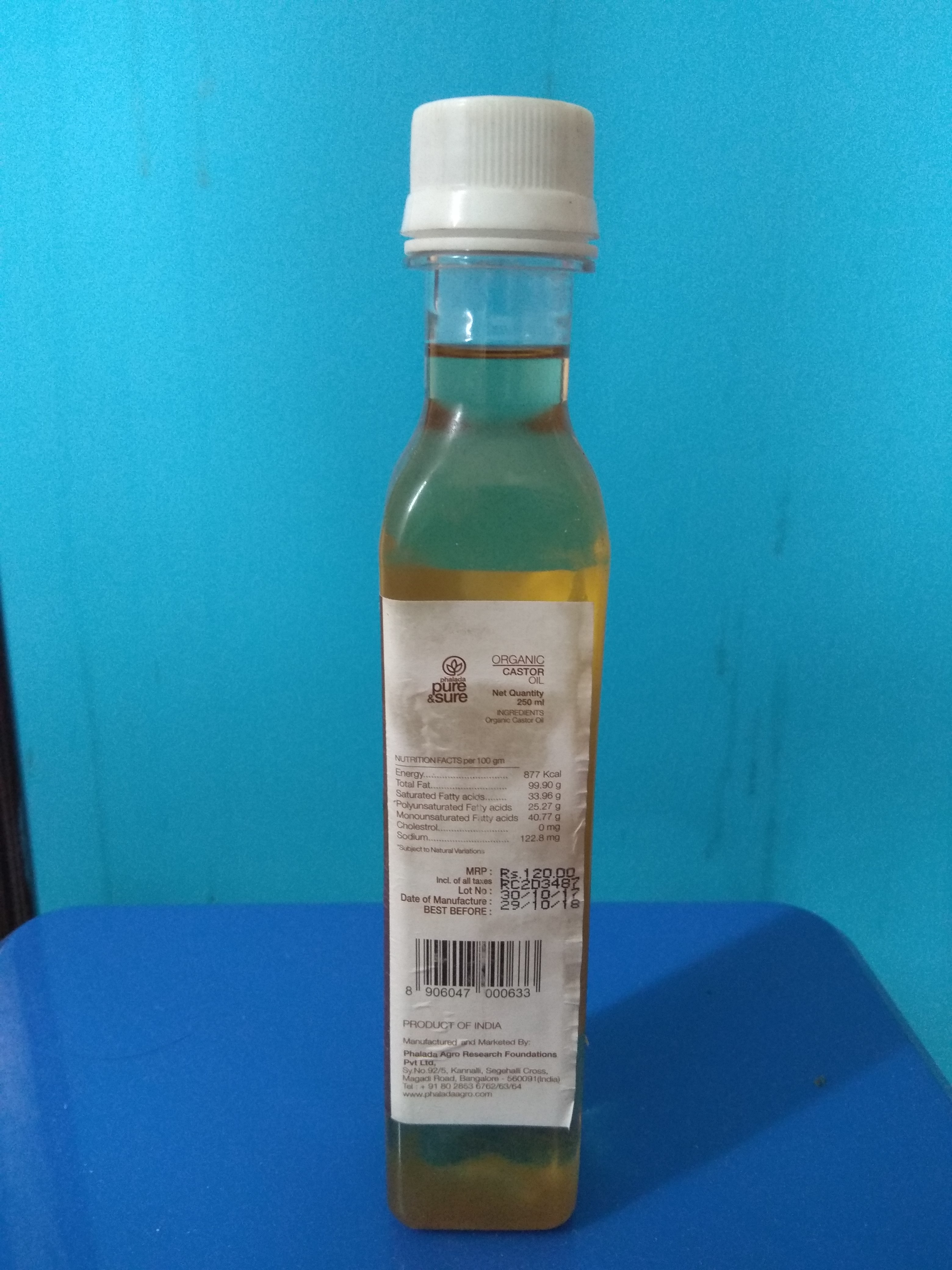 A thick organic castor oil - PURE AND SURE CASTOR OIL Customer