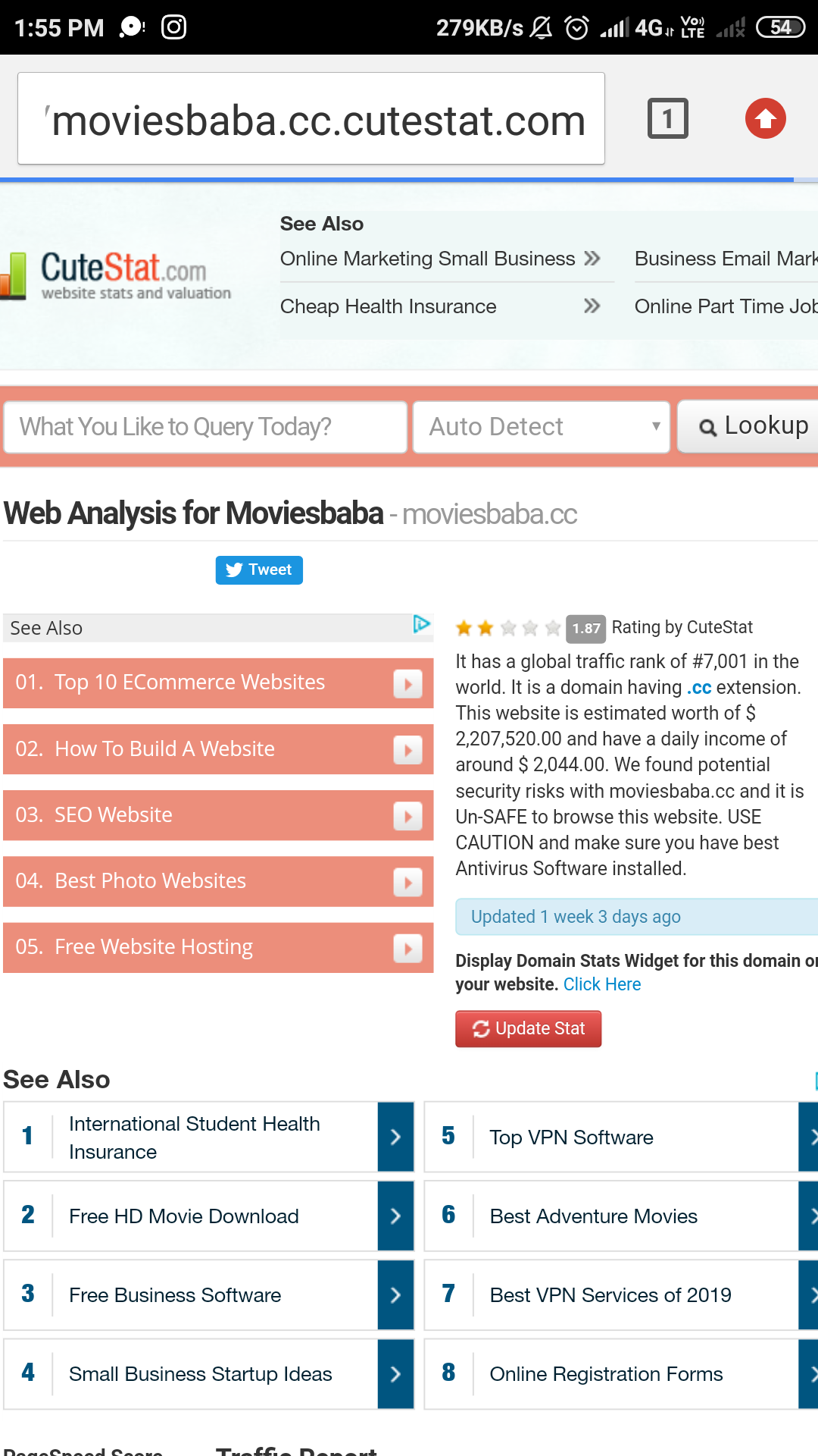 Downloading site for movies - MOVIESBABA CC Consumer Review
