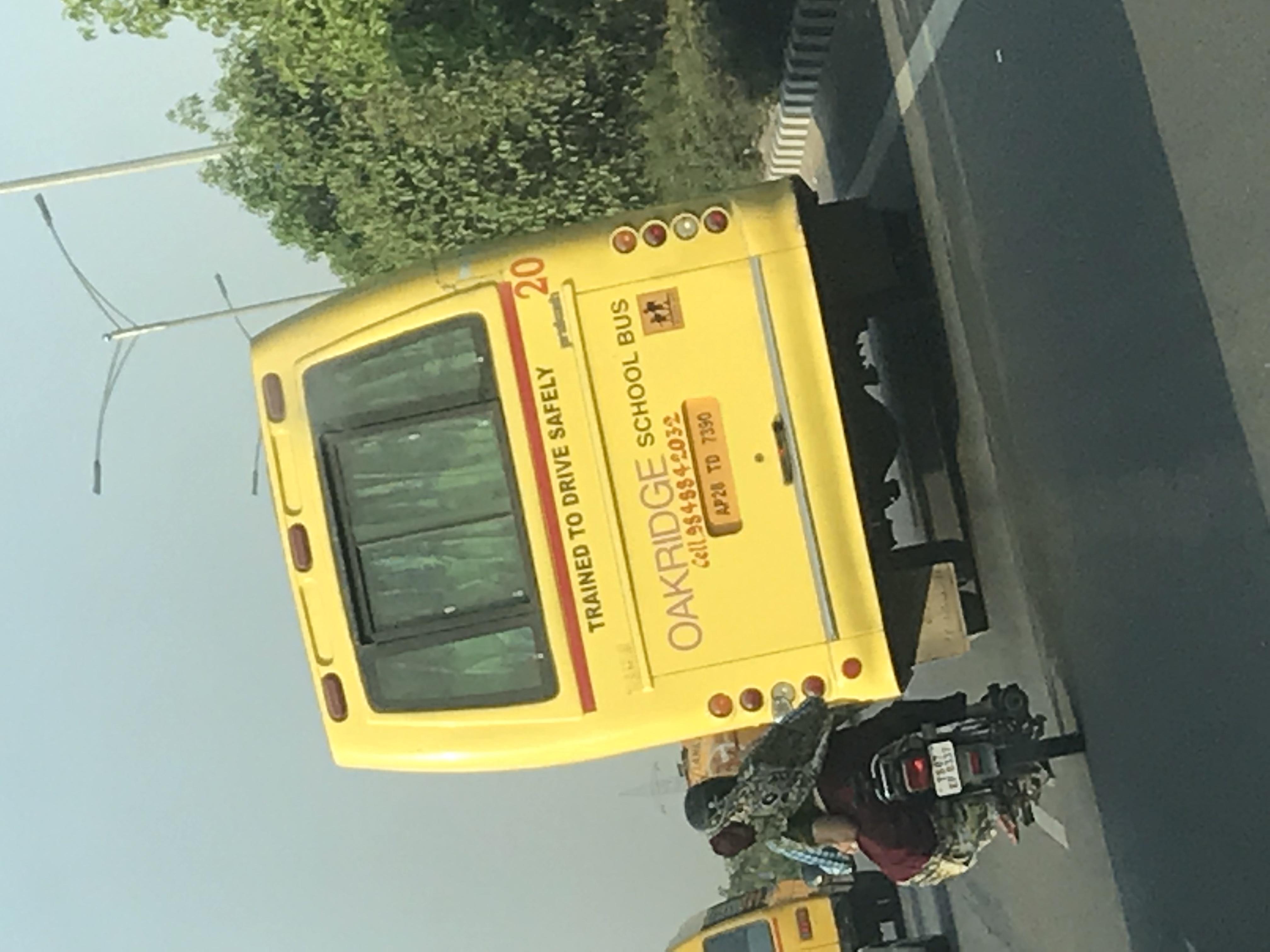 School bus driver was driving rashly  - OAKRIDGE