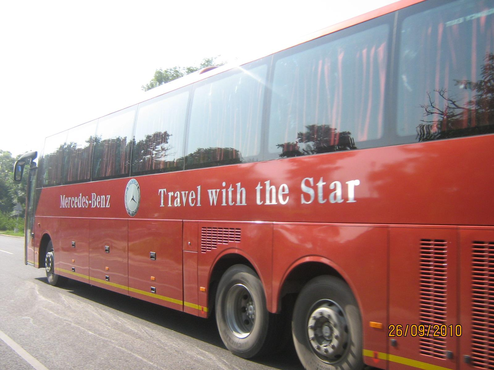 Travel with the star just like a czar review of for Mercedes benz coach bus price