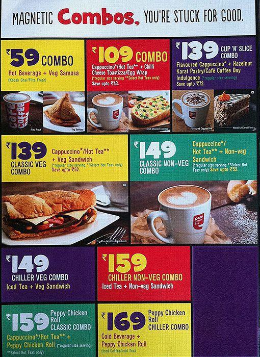 Cafe Coffee Day Menu Price List Mumbai