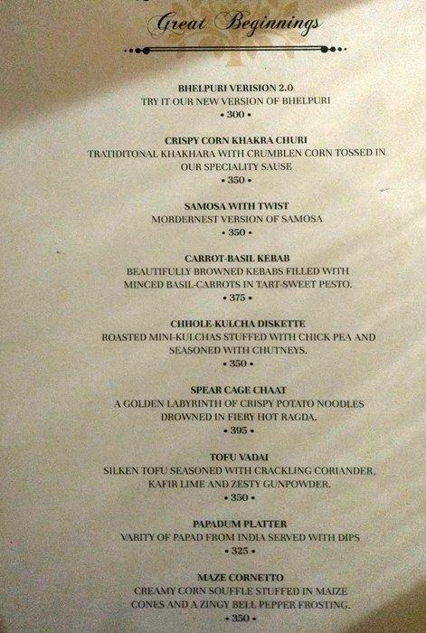 panayaa modern indian kitchen lower parel mumbai menu photos