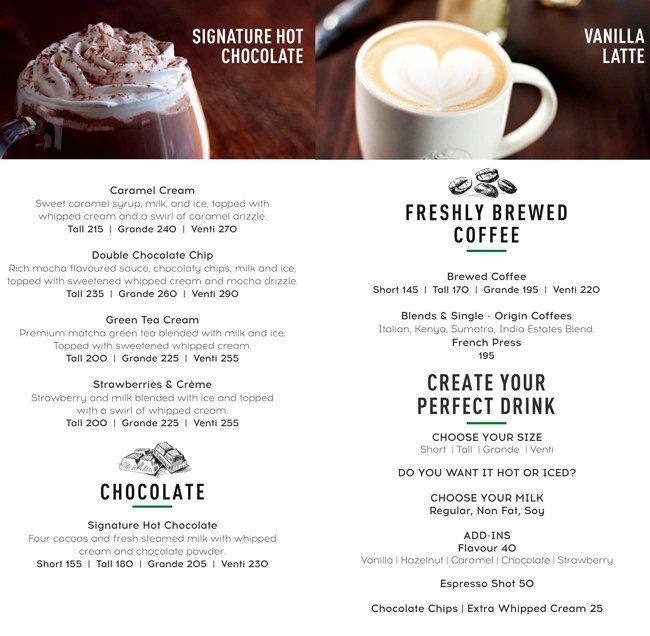 Cafe Coffee Day Menu Price List Pune