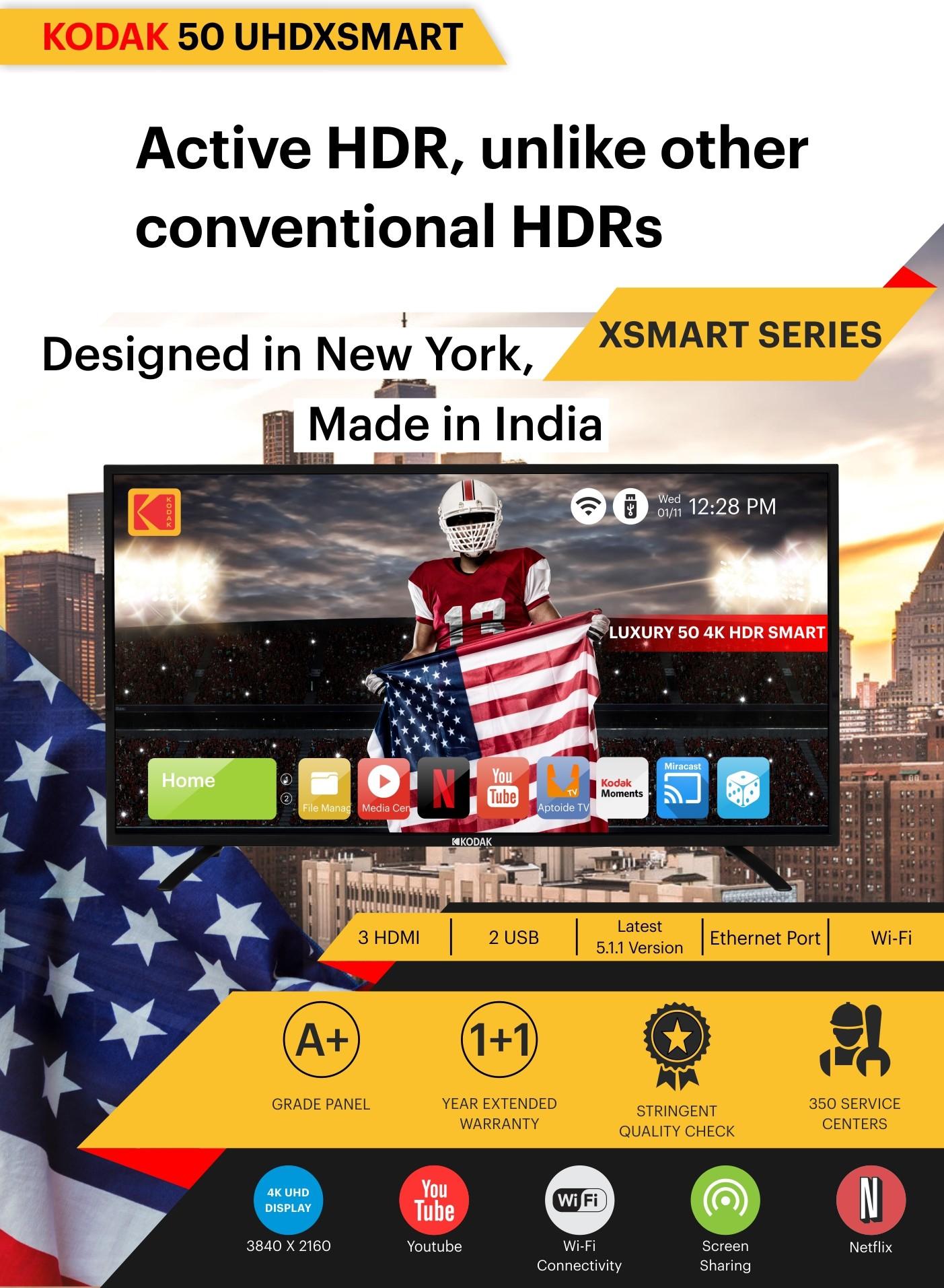 KODAK 124CM (49 INCH) ULTRA HD (4K) LED SMART TV Photos