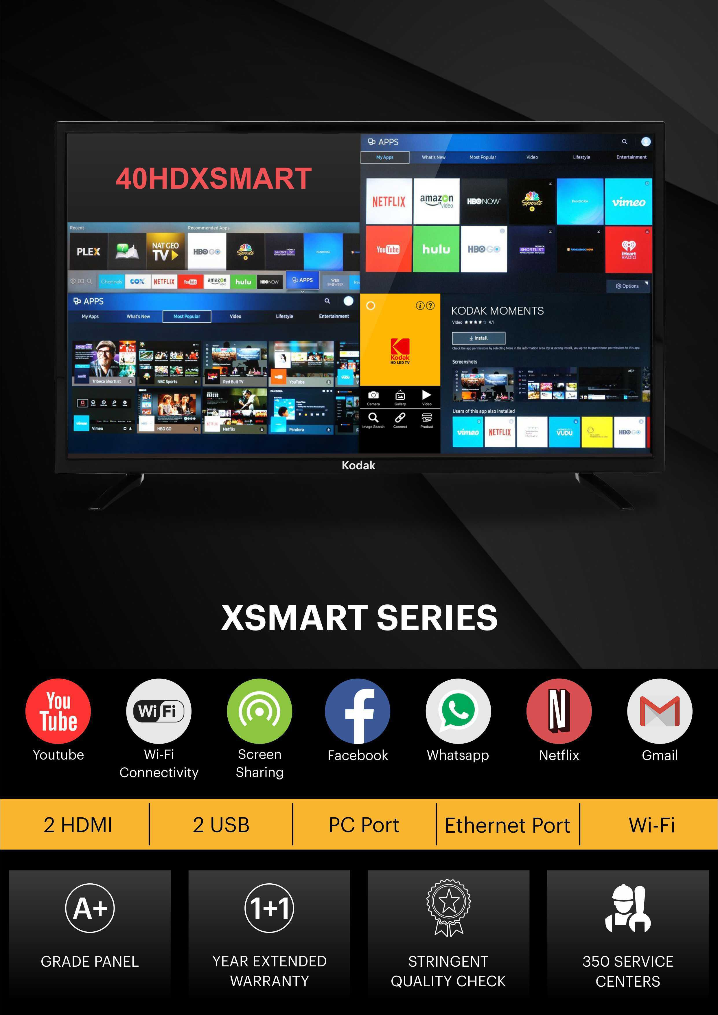 7ad5a4c1ead KODAK 102CM (40 INCH) FULL HD LED SMART TV Photos