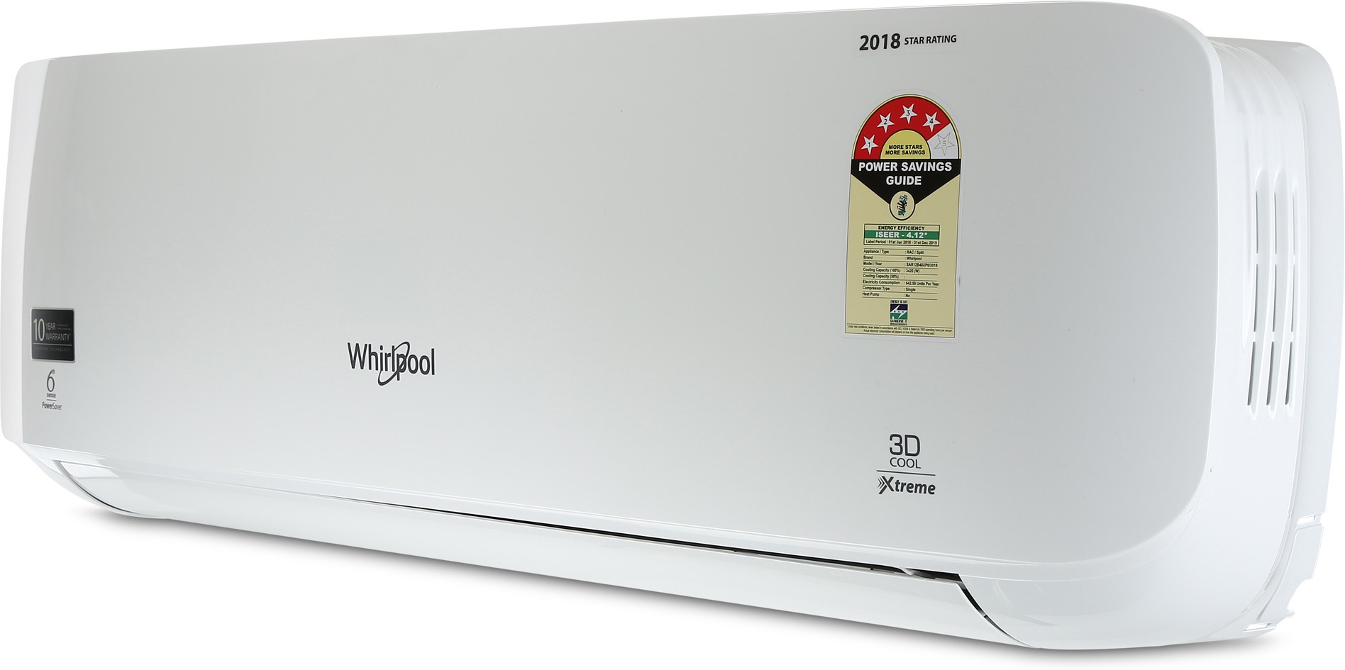 a69963b4b46 Whirlpool 3D COOL XTREME HD 4S 1.5 Ton 4 Star BEE Rating 2018 Split AC image