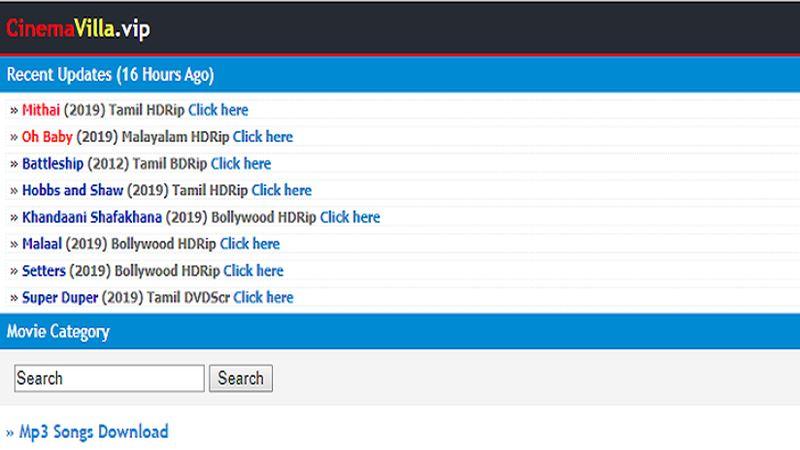 CinemaVilla - Best Website to Download Movies