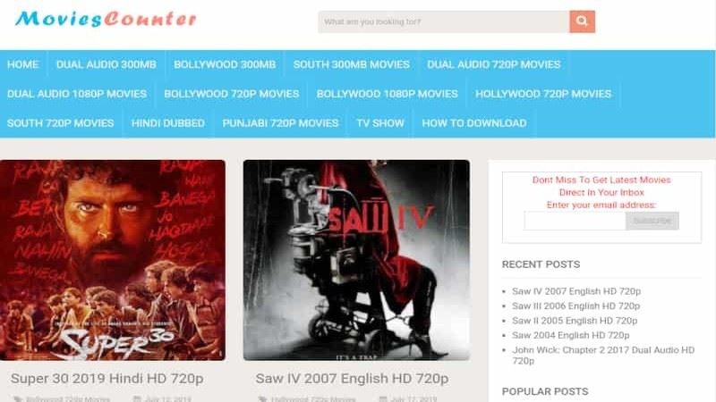 MoviesCounter (Updated 2020) - Good Website to Download Movies, Info, Blog