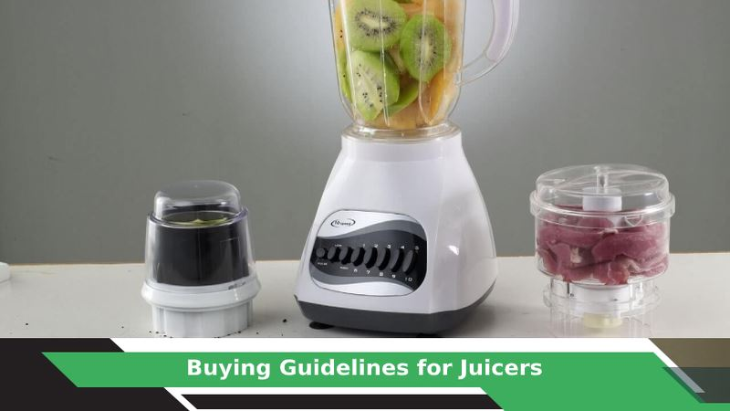 How to buy Juicer?