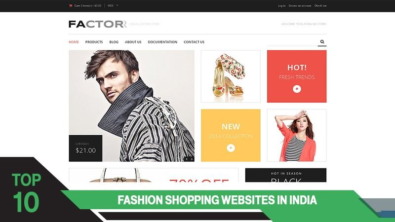 Top 10 Online Fashion Shopping Websites In India
