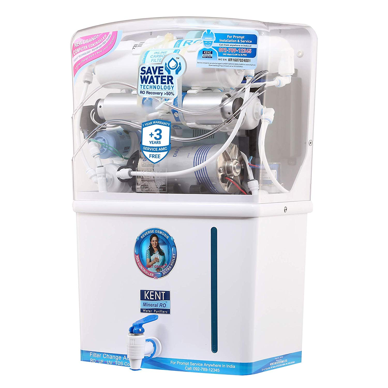Kent Grand Plus Litre 8 L RO + UV +UF Water Purifier Photo1