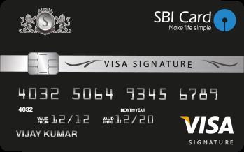 SBI Visa Credit Card Image