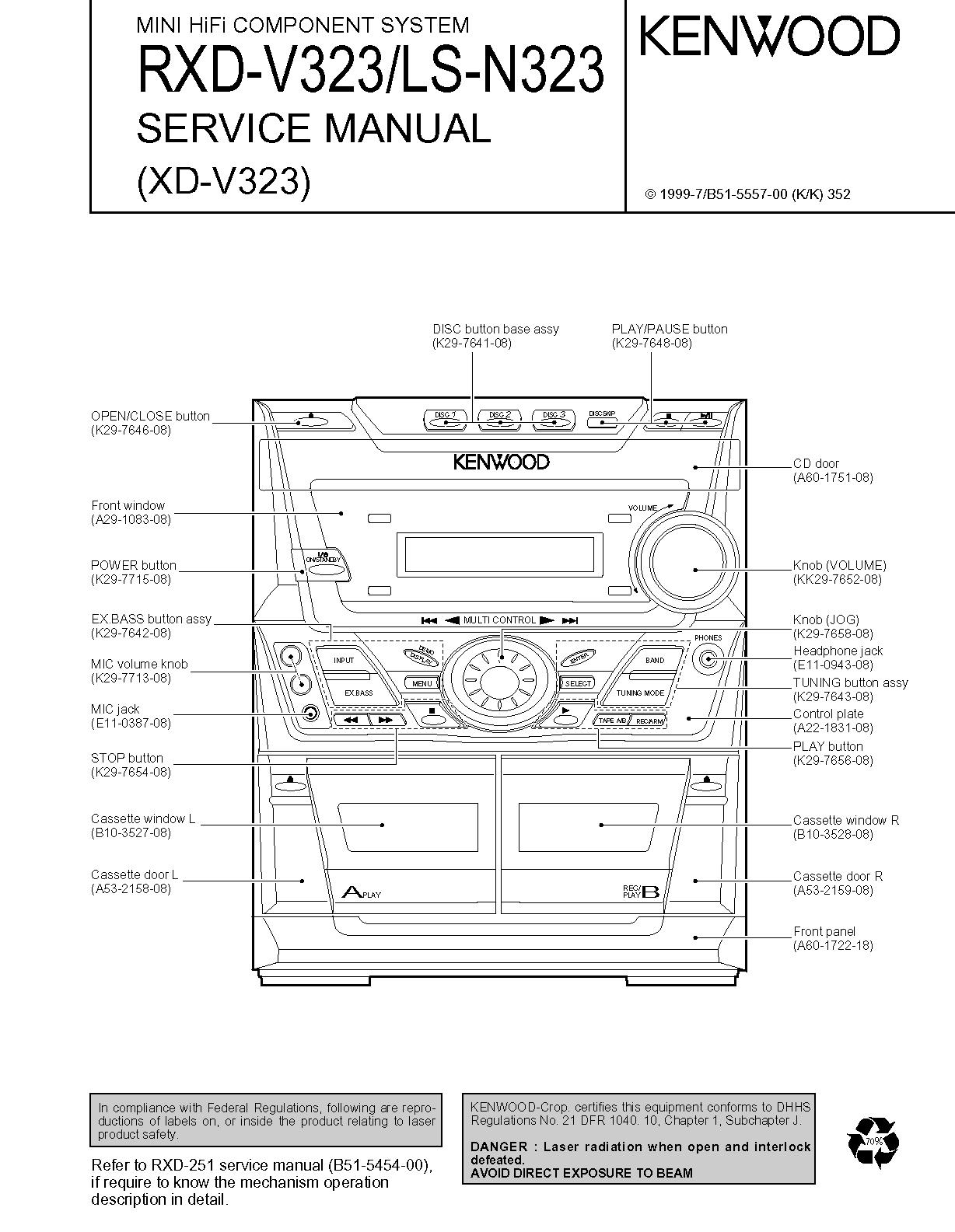 Kenwood XD-V323 Image