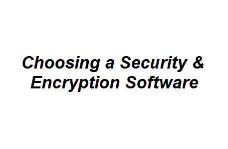 Choosing a Security & Encryption Software Image