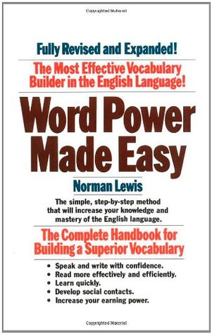 Best vocabulary builder book - WORD POWER MADE EASY - NORMAN