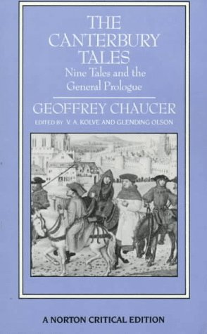 Canterbury Tales Nine Tales & The General Prologue - Glending Olson Kolve Va  Image
