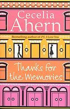 Thanks for the memories - Cecilia Ahern Image