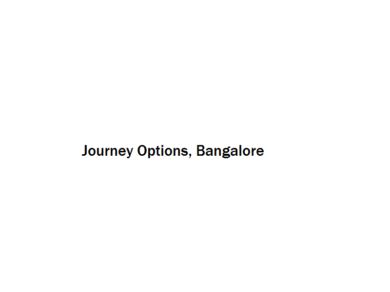 Journey Options - Bangalore Image