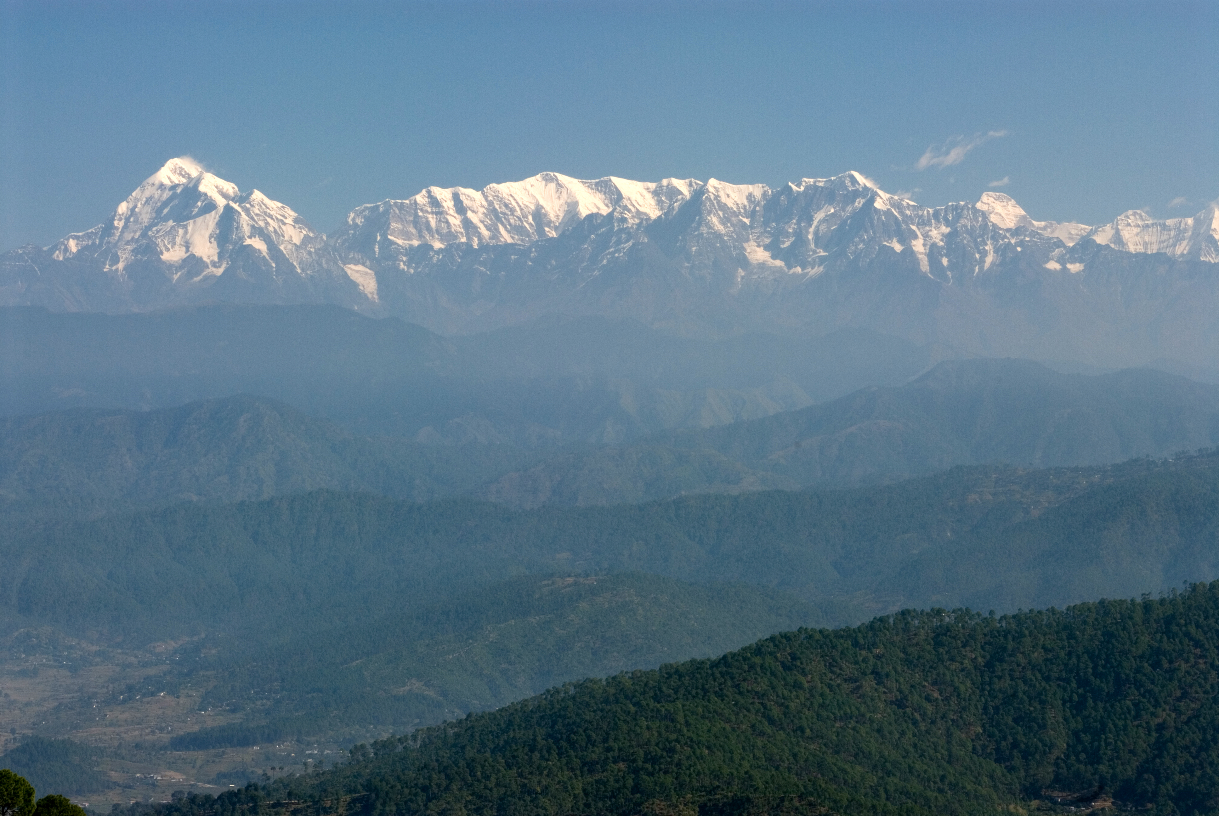 Image result for A view of famous peaks Kausani