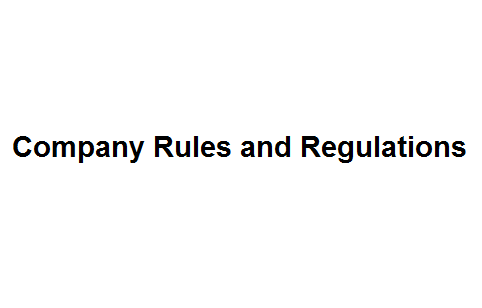 Company Rules and Regulations Image