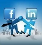 Facebook vs Linkedin Image
