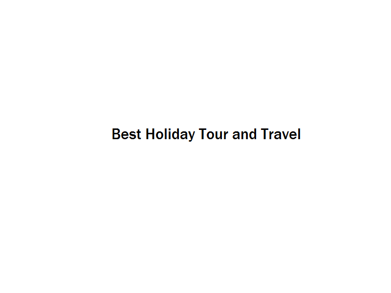 Best Holiday Tour and Travel Image