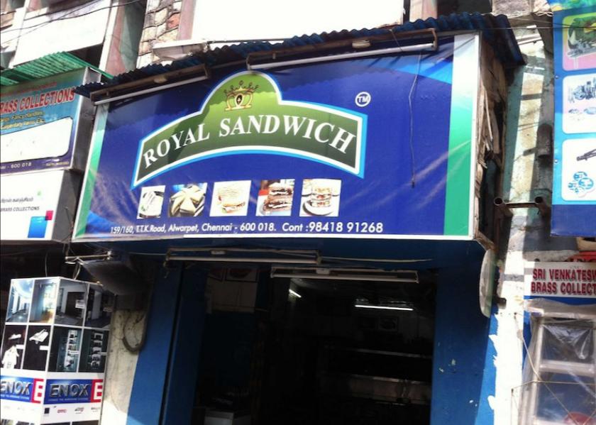 Royal Sandwich Shop - Alwarpet - Chennai Image