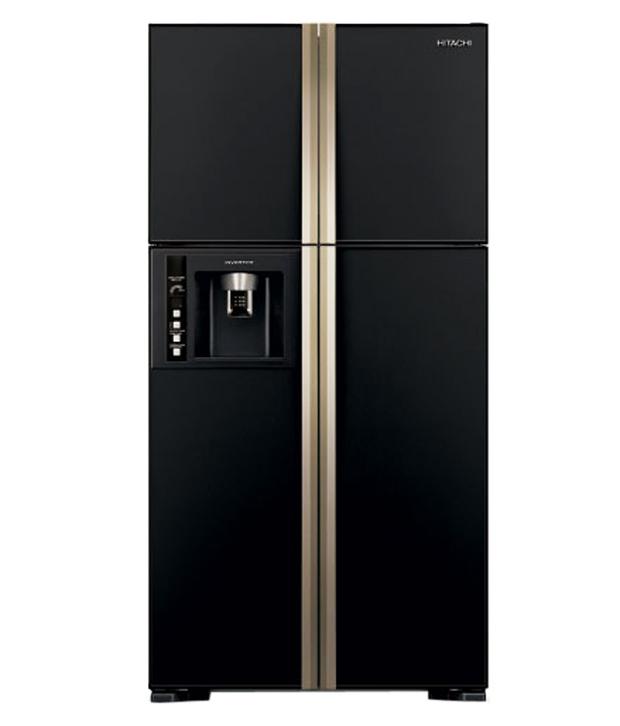 hitachi side by side door refrigerator ref rw720fpnd1xgbk. Black Bedroom Furniture Sets. Home Design Ideas