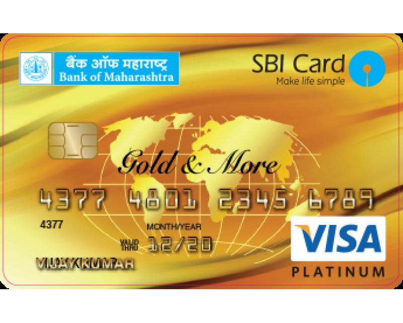 Bank of Maharashtra SBI Visa Credit Card Image