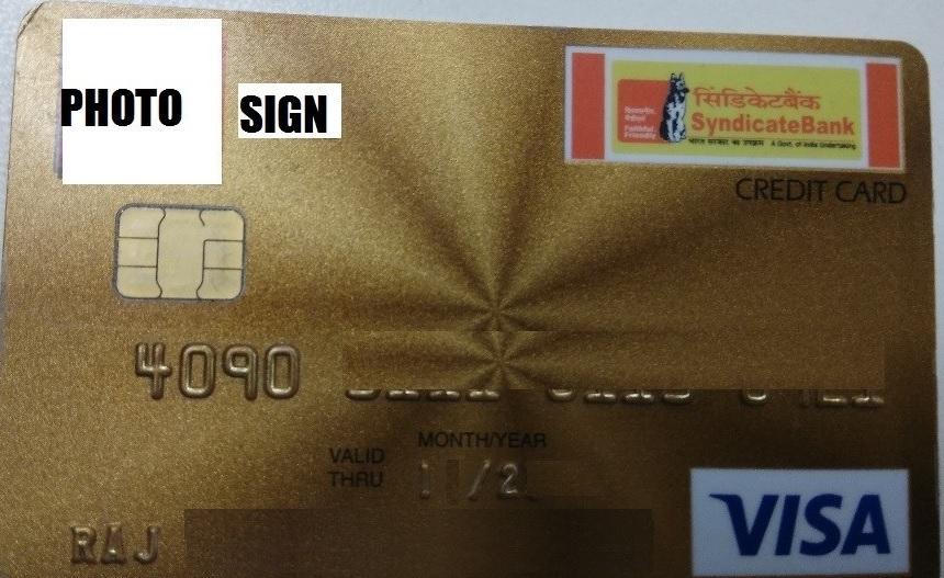 Syndicate Bank Visa Credit Card Image