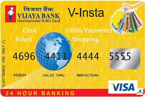 Vijaya Bank Visa Credit Card Image