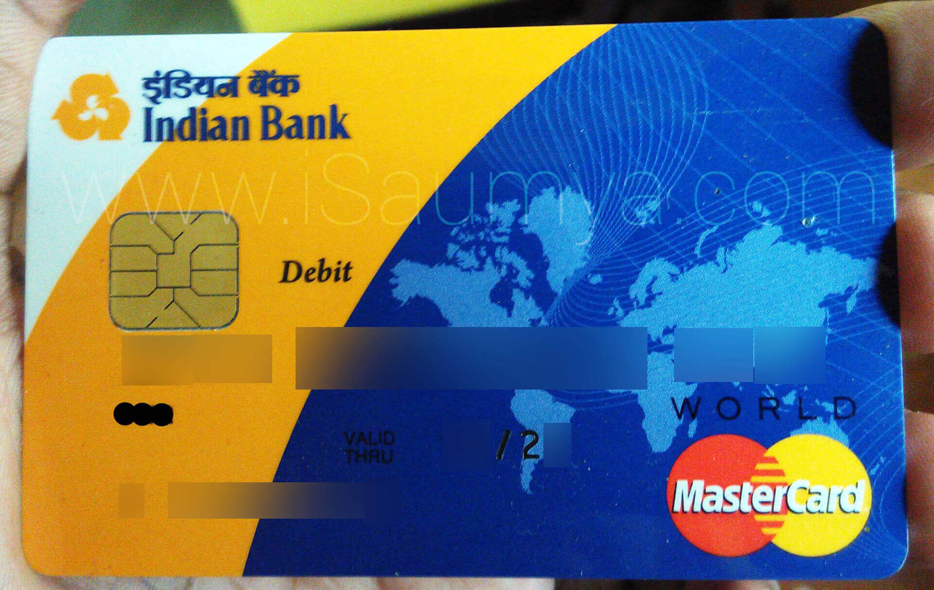 Indian Bank Visa Credit Card Image