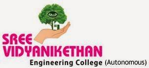 Sree Vidyanikethan Engineering College Tirupati logo