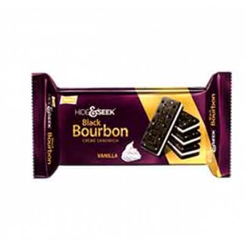 Parle Hide & Seek Black Bourbon Cream Sandwich Choco Image