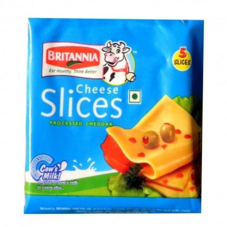 Britannia Cheese Slice Processed Cheddar Image