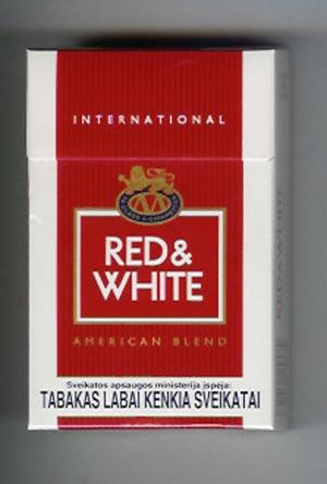 Red & White Cigarette Image