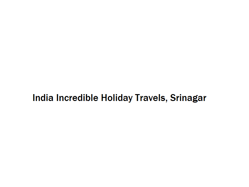 India Incredible Holiday Travels - Srinagar Image