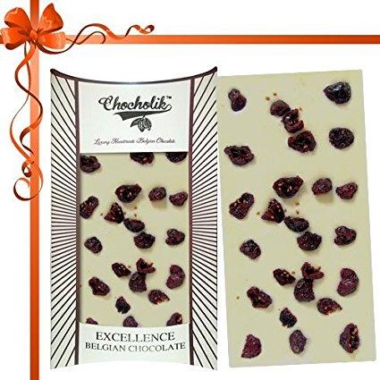 Chocholik Belgian White Cranberry Bar Image