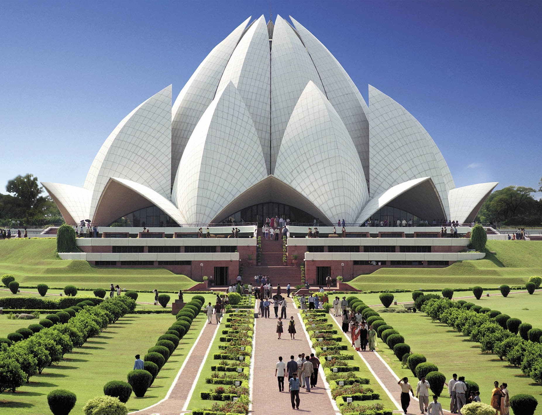 Lotus Temple in Delhi is Baha'i House of Worship